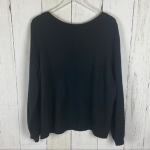 14th & Union | Black Wear 2 Ways V-Neck Sweater